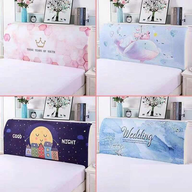 Fashion Cartoon Bed Head Cover Bed Back Protection Cover Soft Headboard Dust Cover 1.5m/1.8m/2.0m Bed