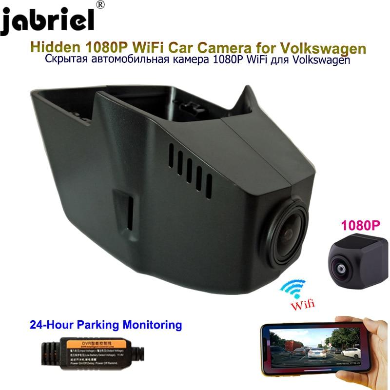 Видеорегистратор Jabriel для Volkswagen vw, скрытая камера 1080P, Wi-Fi, для Volkswagen vw, атлас, passat, tiguan, touran, b6, b7, b8, mk2, 2017, 2018, 2019