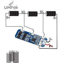 3S 10A 12V ładowarka akumulatorów litowych moduł ochrony dla 3 sztuk 18650 akumulator litowo-jonowy akumulator ładowania BMS 10 8V 11 1V 12 6V tanie tanio UMProb Regulator napięcia 3S 10A Protection Board Elektryczne zabawki -40-+85C