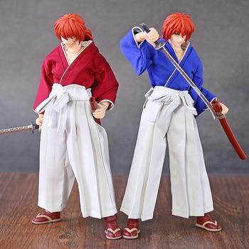 Dasin GT Model 6 inch Rurouni Kenshin Himura Kenshin PVC Action Figure Collectible Model Toy (Real Clothes)