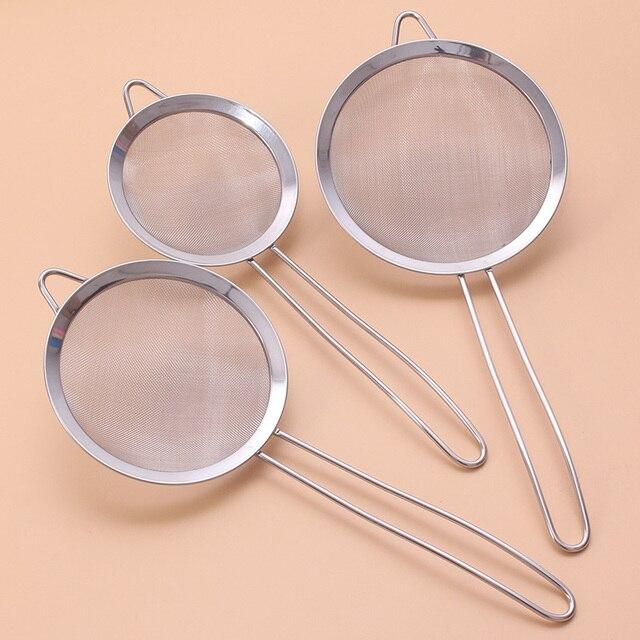 Stainless steel  Wire Fine Mesh Oil Strainer Flour Colander Sieve Sifter Pastry Baking Tools kitchen accessories 1