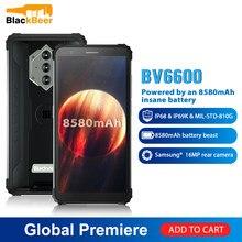 Blackview bv6600 5.7 polegada 4g smartphone áspero ip68 impermeável android 10 núcleo octa do telefone celular 4gb + 64gb nfc 8580mah