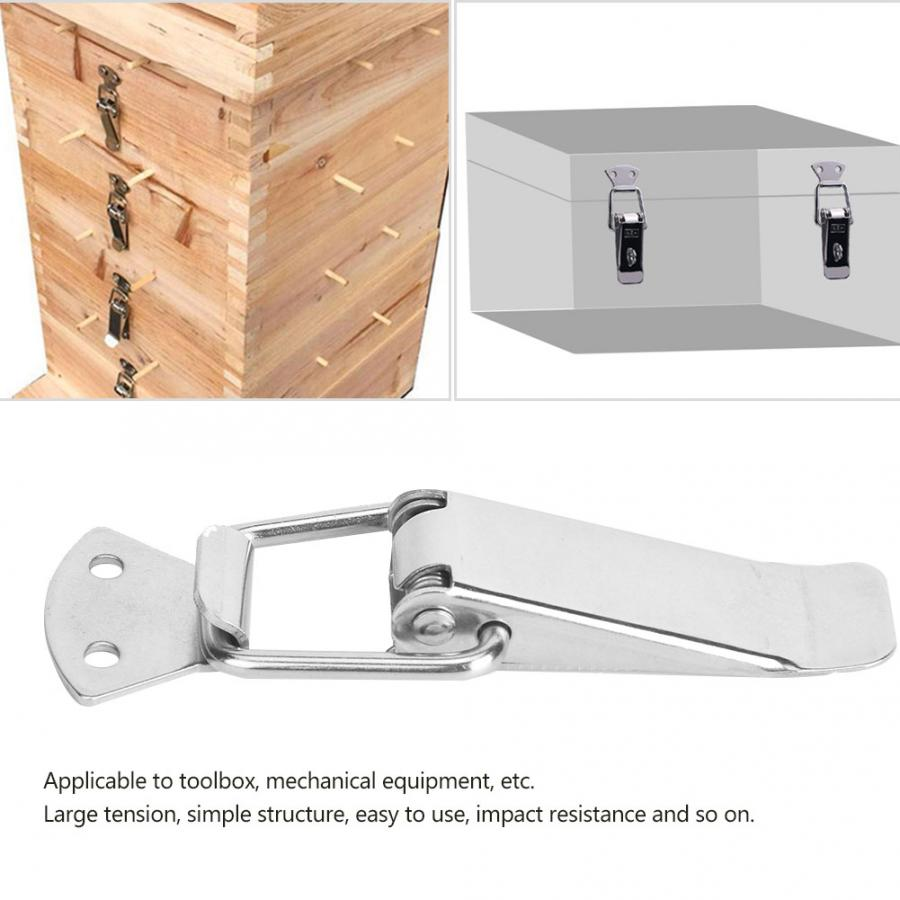 1Pc High Quality Toggle Catch Nickel Plated Furniture Catches Door Fastener 45mm