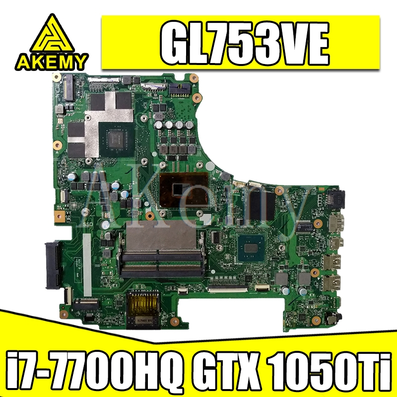 GL753VD Motherboard Main Board REV: 2.0 w/ GTX 1050Ti 4G GPU + i7-7700HQ 2.8Ghz CPU for Asus ROG GL753V GL753VE GL753VD Laptops image