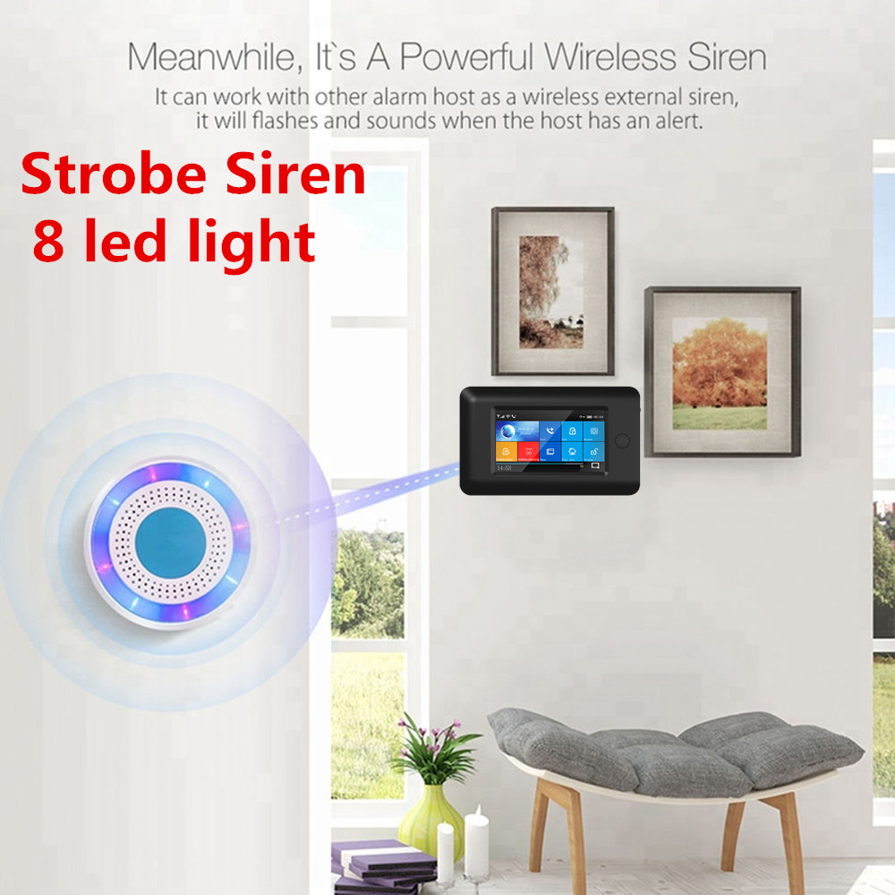 PGST 3G WIFI Wireless Smart Home Security Alarm System mit Full Touch Host Alarm APP Control SMS Alarm - 6