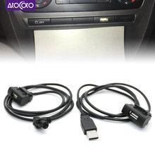 Adaptador de cabo de interface usb rcd510 rns315, cd de carregador de botão de slot skoda octavia, painel de unidade de cabeça