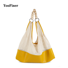 Canvas Mesh Beach Bag 2019 New Trend Fashion Net Female handbag shoulder bag Tote Shopping  Folding