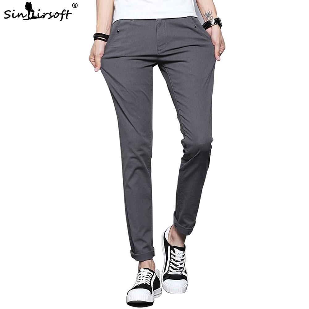 New Listing Men's Slim Pencil Pants Men Joggers Korean Street Skateboard Casual Long Section Cotton Solid Color Pantalon Homme