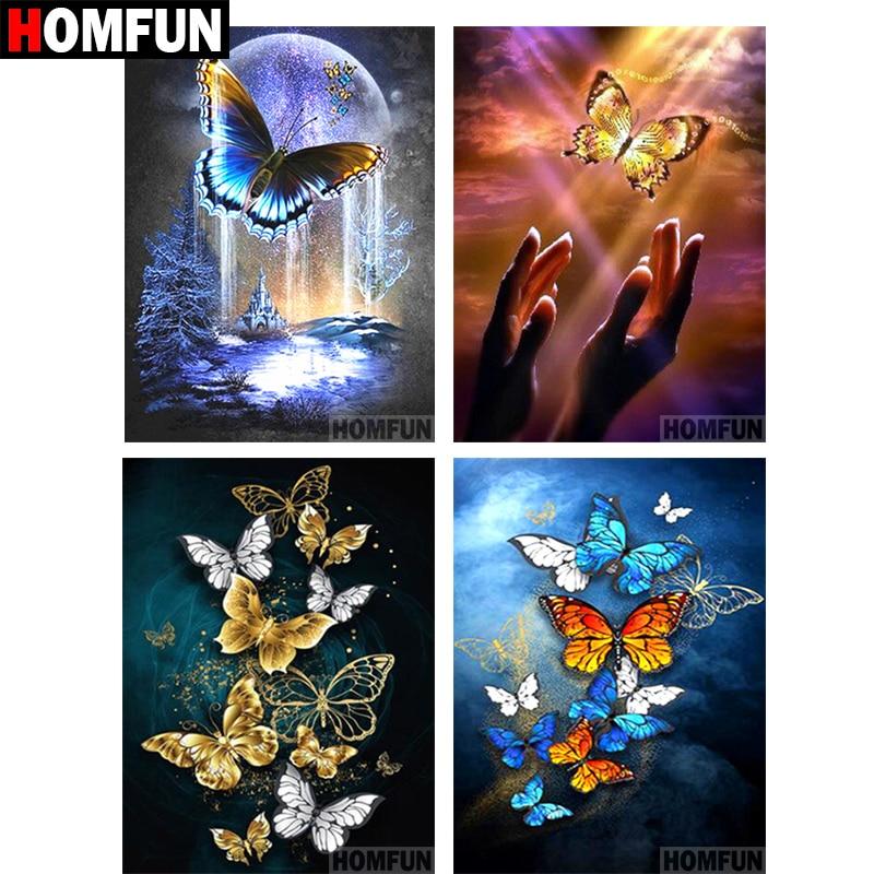 TEEMANDITIKAND / TEEMANTMAAL (MOSAIIK) - tee ise. 5 liblikatega pildivalikut. Erinevad suurused.