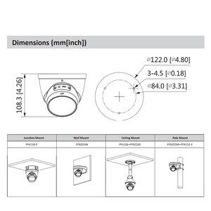 Image 5 - Оригинальная камера Dahua IPC IPC HDW2831T ZS S2 IP камера с 5 кратным увеличением HD 8MP IP67 с SD картой IR 40M H.265 для безопасности Многоязычная