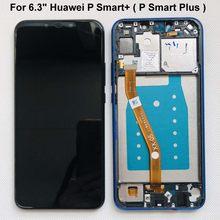 Teste original para huawei p smart + (p smart plus) INE-LX1 l21 nova 3i tela lcd + montagem digitalizadora touch screen + moldura