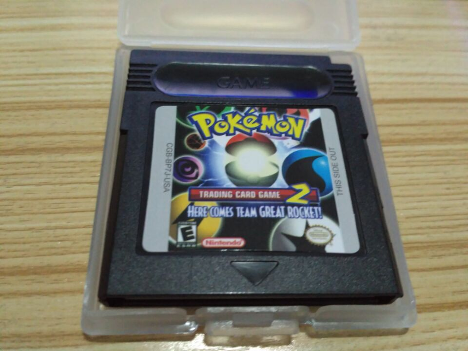 Pokemon Series NDSL GB GBC GBA Trading Card Game 2 Video Game Cartridge Console Card Classic Colorful Version English Language image