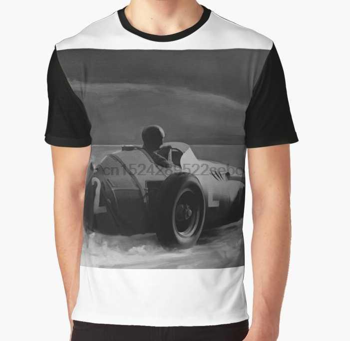 Camiseta gráfica de juan manuel fangio toda a impressão em 3d
