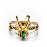 Marvel Film Superhero Thor Loki Helm Pack von 3 Stapeln Unisex Gold-Plating Ring Männer Charme Schmuck Frauen Valentine der Tag Geschenk
