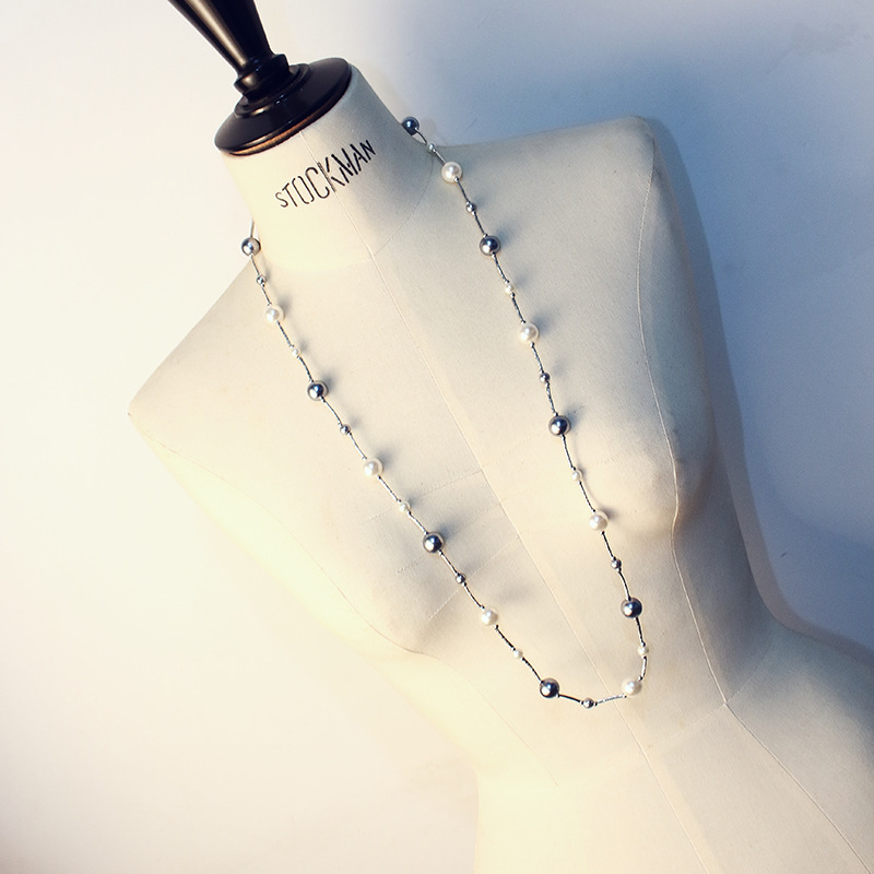 CX-Shirling Luxury Colorful Pearl PendantNecklace Women High Quality cc Style Necklace Jewelry