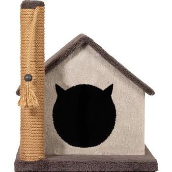 Petsi przyjaciele dom dla kotów i drapanie antracyt tanie i dobre opinie CN (pochodzenie)