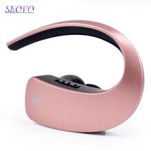 Seovo Ear hook earphone bluetooth Business voice control wireless gaming sport handsfree 4 colors HIFI earphones For driver