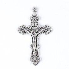 Cruz pingente jesus retrato pingente católico presente feito em liga de zinco 2020 novo estilo a fim de enviar presente requintado meng ming