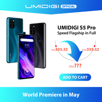 UMIDIGI S5 Pro Helio G90T Gaming Processor 6GB 256GB Smartphone FHD+ AMOLED  In-screen Fingerprint Pop-up Selfie Camera 4680mAh 1