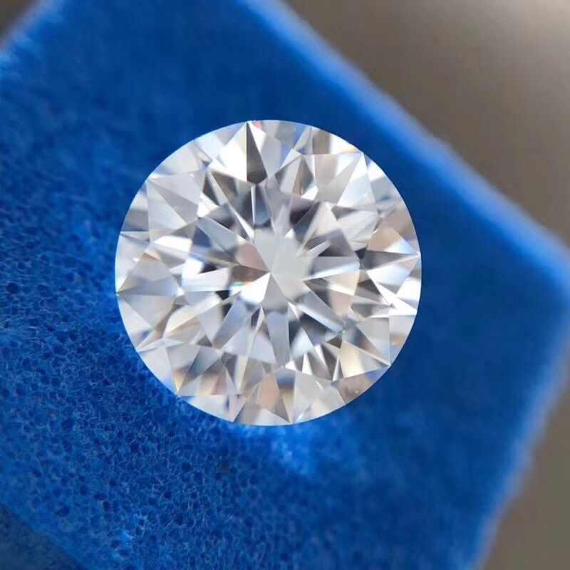 Loose Moissanite 2.5ct קראט 8.5mm D צבע עגול מבריק מצוין לחתוך Loose אבן VVS1 תכשיטי מעבדה יהלומי טבעת חומר