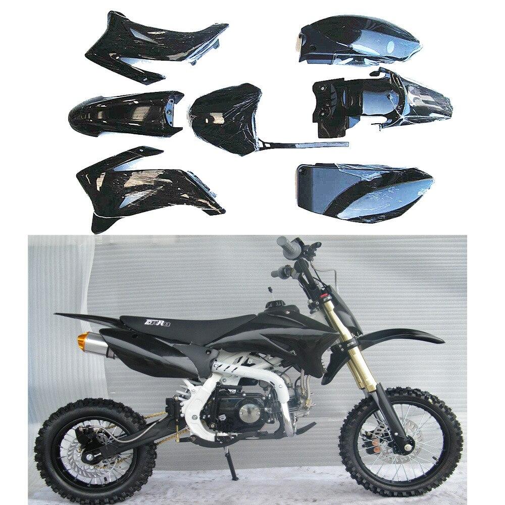ALL BLACK FOR YAMAHA TTR110 TTR 110 Plastics Fairing Fender Kit Motorcycles Full Fairing Kits Dirt Pit Bike Pit Pro SSR170 SDG