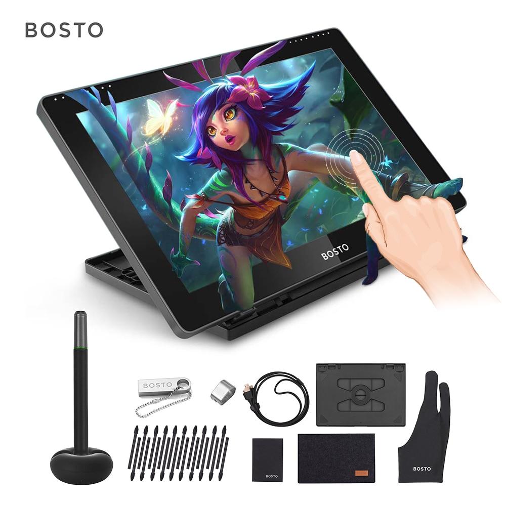 BOSTO BT 16HDT 15.6 Inch H IPS LCD Graphics Drawing Digital Tablets Art Graphics Tablet Monitor 8192 Interactive Stylus PenDigital Tablets   -