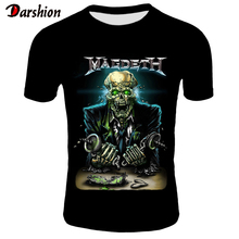 3D Megadeth T-shirts Men Fashion Tops Tees Skull Print T shirt Men/Women O-neck Short Sleeve Summer Tshirts Plus Size XXS-4XL