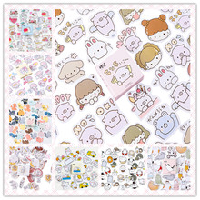 45pcs/pack Cartoon Stickers DIY Diary Notebook Album Scrapbooking Office School Supply 14 Styles Can Choose