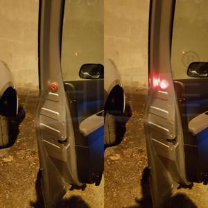 Image 4 - 1X Red Magnetic Wireless LED Car Door Opening Warning Lights Waterproof Strobe Flashing Anti Rear end Collision Led Safety Lamps