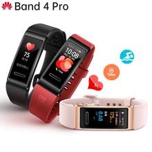 الأصلي هواوي باند 4 برو الذكية معصمه ساعة مبتكرة تواجه مستقل لتحديد المواقع استباقية رصد الصحة SpO2 الدم الأكسجين