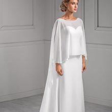 White Cheap Chiffon Wedding Wraps Bridal Cape For Bridal Wedding Shawl Summer Bridal Jackets Wraps