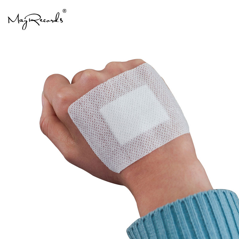 10PCs 6cmX8cm Large Size Hypoallergenic Non-woven Medical Adhesive Wound Dressing Band Aid Bandage Large Wound First Aid Outdoor