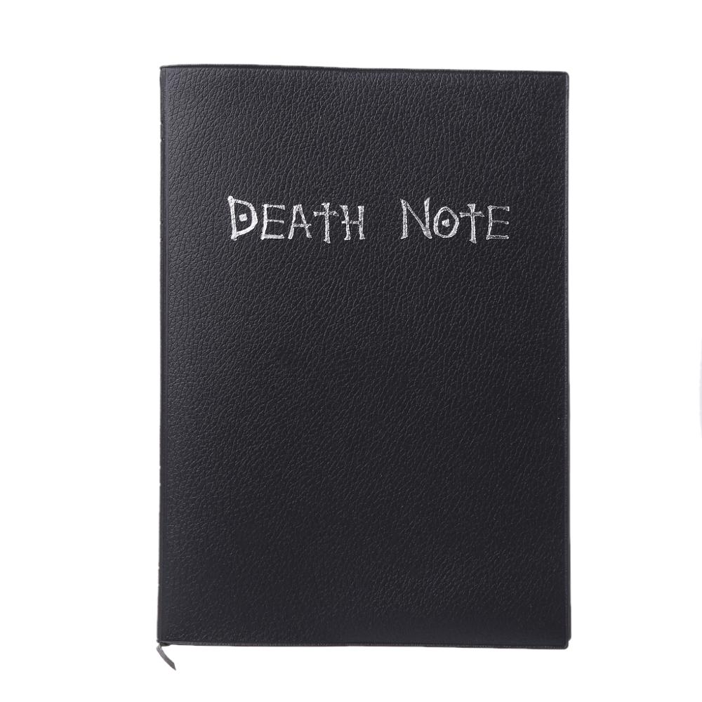 Death Note Book Cosplay Notebook Journal Diary+Feather Anime Note Hot Pen W3P8