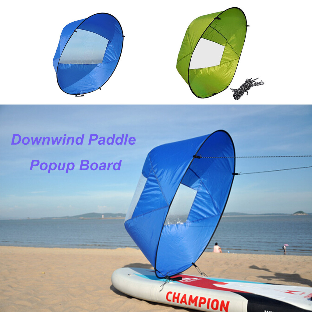 Foldable Kayak Downwind Kit Popup Board Wind Paddle Boat Ultralight Wind Sail Kayak Canoe Inflatable Boat Sailboat Accessories