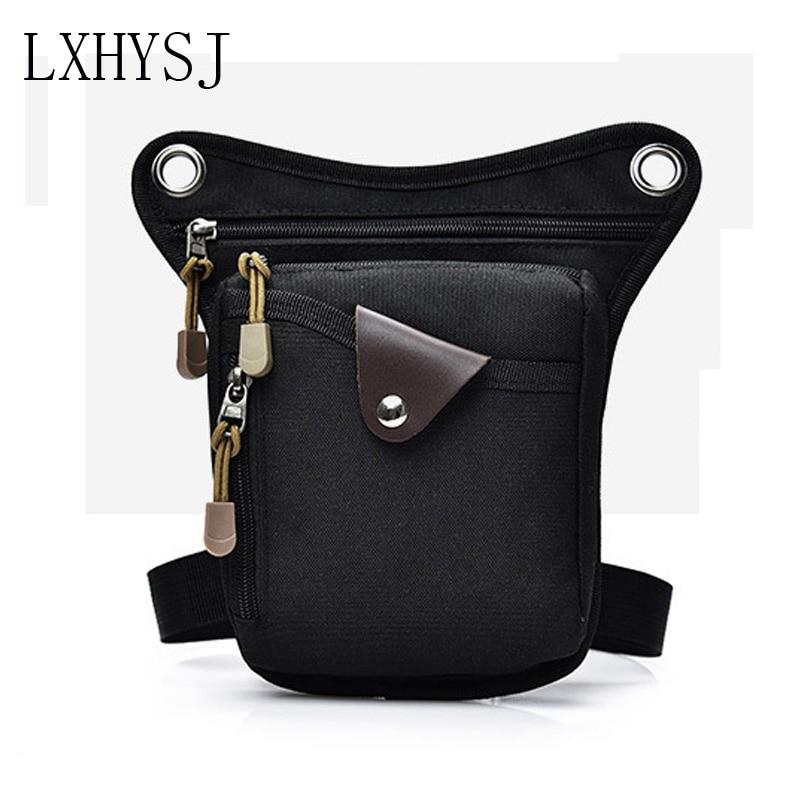 Men Nylon Drop LegsBag Fashion Hip Belt Bag Thigh Bum Fanny Pack Multifunction Tactical Riding Male Shoulder Messenger Bag