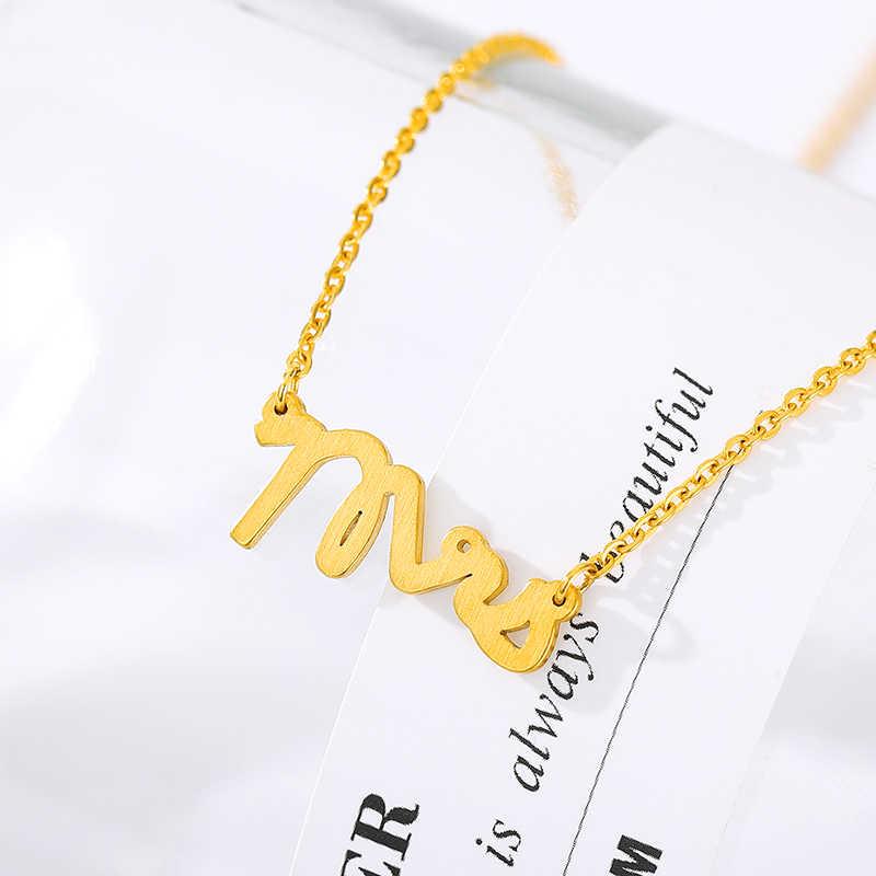 Pani list ślubny naszyjnik typu choker z charmsami wisiorek 2019 łańcuszki minimalistyczna biżuteria prezent naszyjnik dla dziewczynek i kobiet