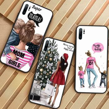 Fashion Queen Mom Girls Phone Case For Huawei honor Mate P 9 10 20 30 40 Pro 10i 7 8 a x Lite nova 5t image