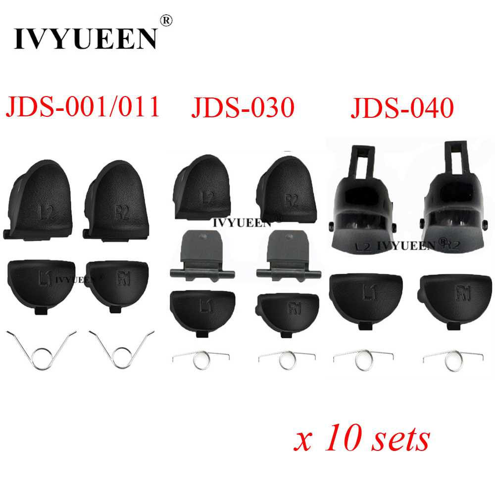 IVYUEEN 10 Sets L1 R1  L2 R2 Trigger Button For Sony PlayStation 4 PS4 Pro Slim Controller Replacement Parts for Dualshock 4 DS4