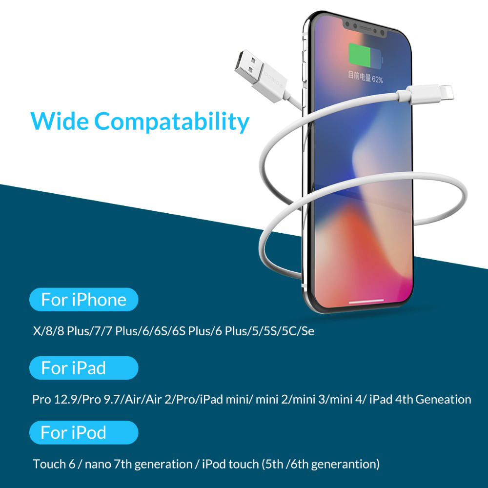 Image 5 - ORICO USB Cables 2A Fast Charging for iPhone XS Max 8 Plus 7 6 6S 5 5S Mobile Phone iPad Data Charging Charger Cord-in Mobile Phone Cables from Cellphones & Telecommunications