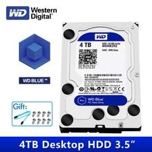 WD Blue 4TB HDD Sata 3.5 Desktop Computer HDD Internal Hard Disk Disk Drive Western Digital 4 TB HDD For PC Disque Disco Duro