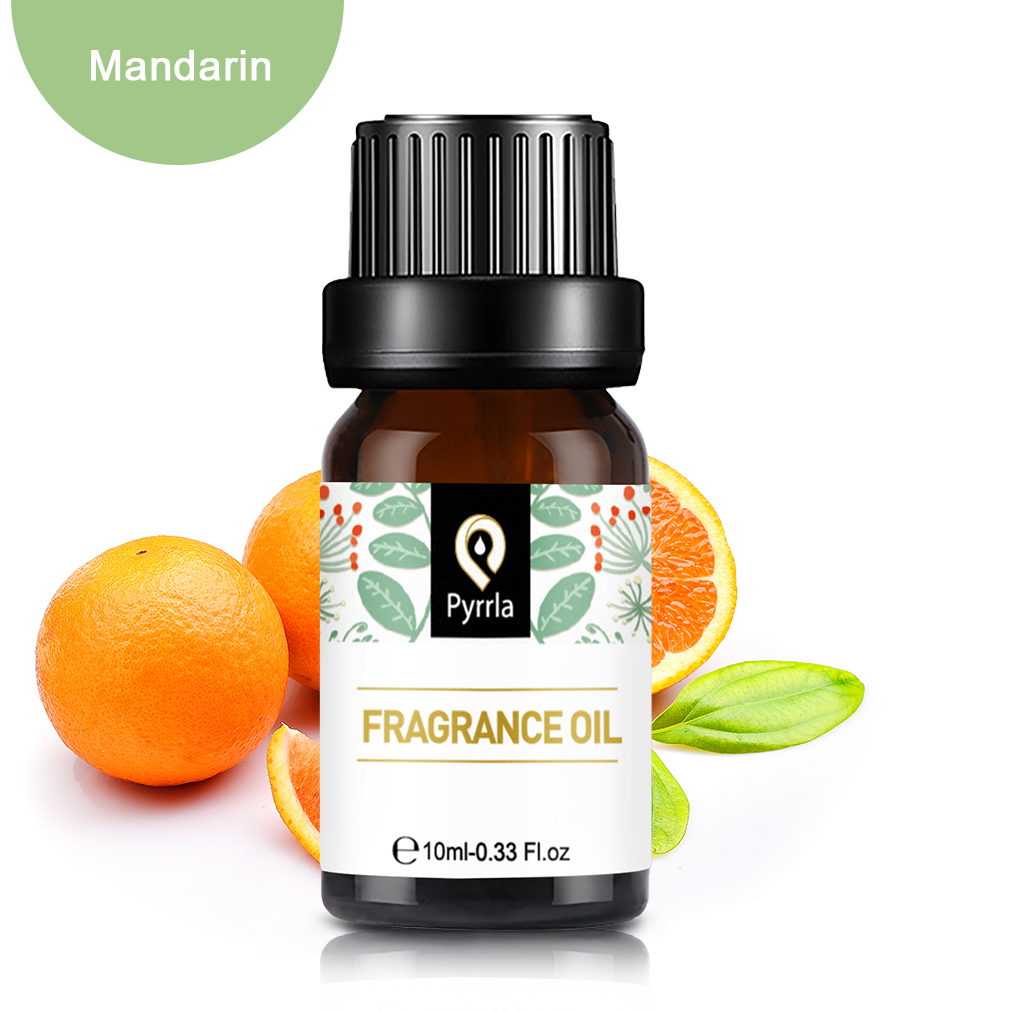 Pyrrla 10ml Mandarin Fragrance Oil For Aromatherapy Diffuser Humidifier Citrus Lime Mango Strawberry Flower Fruit Essential Oil