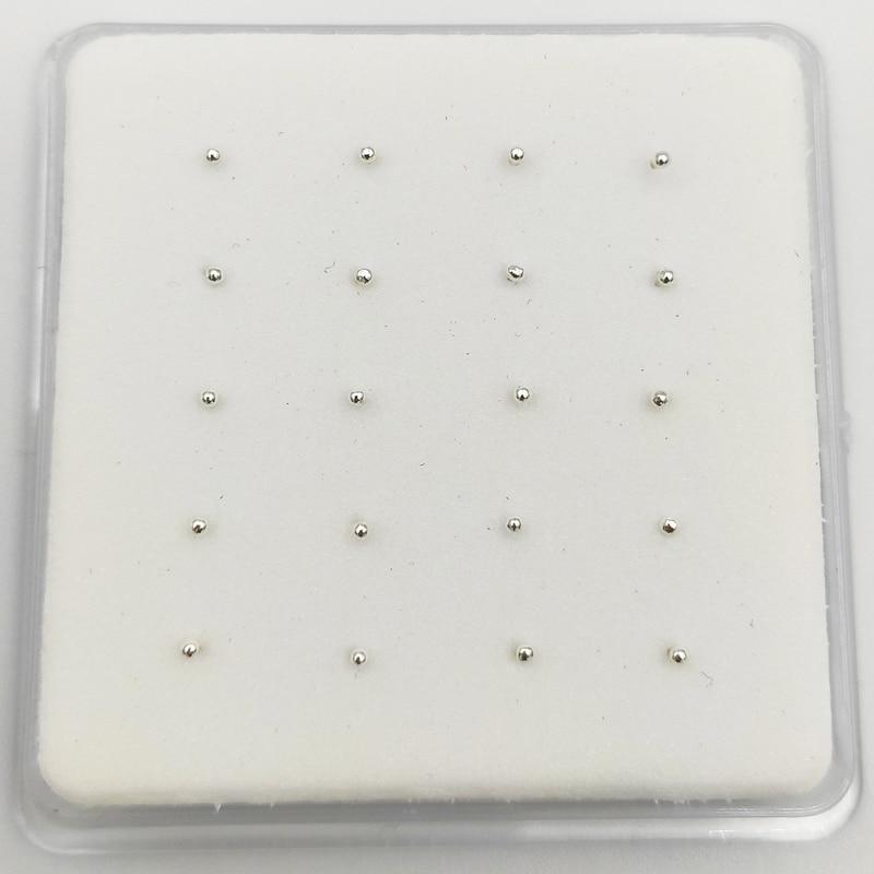 925 Sterling Silver 1.2 mm ball  Nose Studs Pins Bone  Piercing nez Body Piercing jewelry 20pcs/pack-0