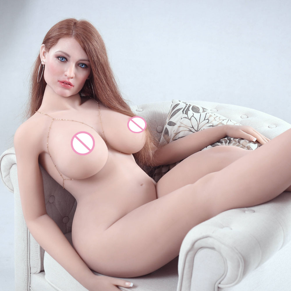 Super Realistic <font><b>Sex</b></font> <font><b>Doll</b></font> <font><b>161cm</b></font> Made of Full Silicone Head with Hair Artificially Transplanted and TPE Body Busty girl <font><b>Doll</b></font> image