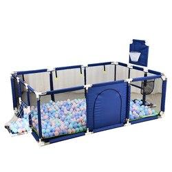 Tragbare kinder Laufstall Baby Sicherheit Zaun Klapp Krabbeln Spielplatz Kinder Pool Bälle Für Neugeborene Kinder Sicherheit Barriere