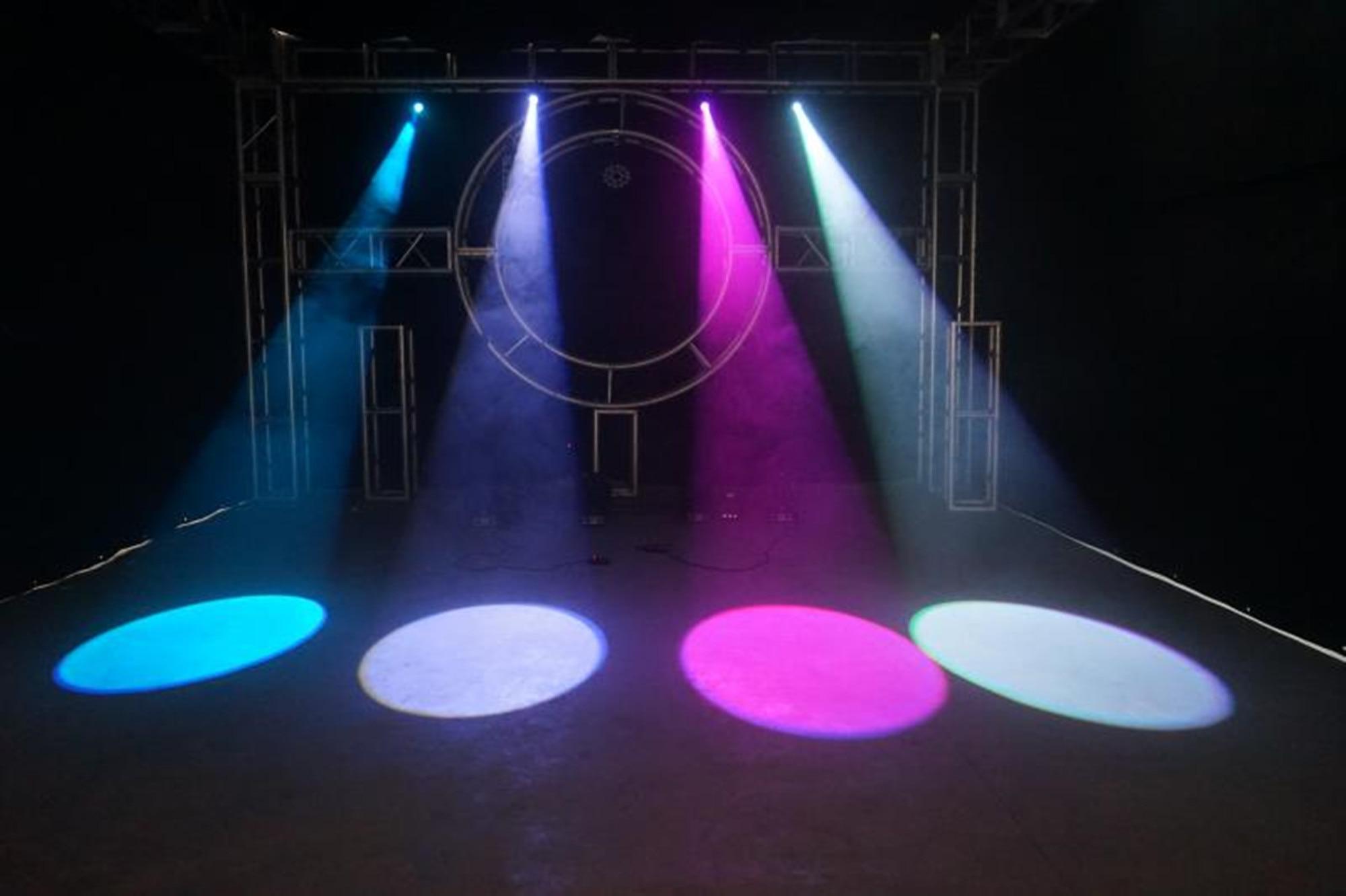Refletor para palco, 10w, rgbw, dmx512, luz