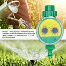 цена на Garden Automatic Water Timer Irrigation Controller System Sprinkler Controller Programmable Valve Hose Faucet Watering Timer