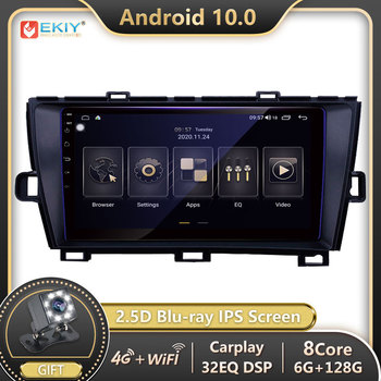 EKIY Blu-ray IPS DSP Android 10 For Toyota Prius 2009-2013 Car Radio Multimedia Video Player Navigation GPS Stereos DVD no 2 Din image