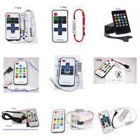 Mini 10 teclas 11 teclas 14 teclas 20 teclas 21 teclas color único RGB IR RF mando a distancia para 3528 5050 RGB tira de luces LED