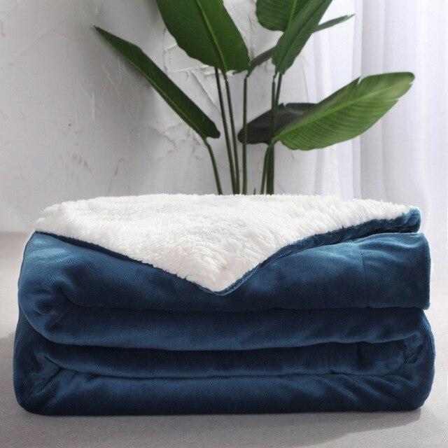 Warm Fleece Reversible Blanket