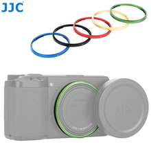 JJC دائم الألومنيوم عدسة حلقة لريكو GR III GRIII GR3 كاميرا يحل محل ريكو GN 1 عدسة الديكور الدائري